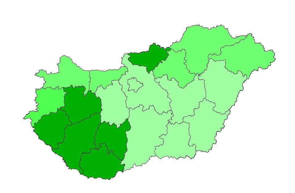 A vadkár mértéke Magyarországon