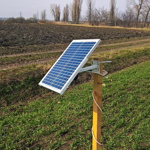 Vadalarm mezőgazdasági napelem